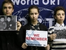 Thousands of 'We Remember' photos projected at Auschwitz-Birkenau as WJC campaign reaches millions world-wide