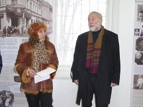 """Josef Zissels speaks at """"Babiy Yar: Histories and Fates"""" exhibition opening"""