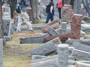 Toppled headstones in Brooklyn Jewish cemetery reportedly 'not hate crime'