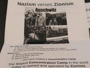 Posters comparing Gaza to Auschwitz spread on Illinois campus