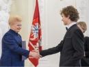 Президент Литвы наградила молодых музыкантов, среди которых член еврейской общины