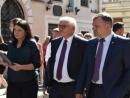 Президент Германии посетил во Львове восстановленный мемориальный комплекс «Пространство синагог»