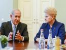 Биньямин Нетаньяху поблагодарил Литву за дружбу и теплый прием