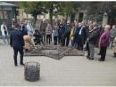 На месте бывшего Вильнюсского гетто из камней выложена звезда Давида
