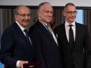 Boris Lozhkin and James Temerty Award Ronald Lauder Sheptytsky Medal