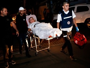 At least 108 people wounded in Israel in two days of rocket fire