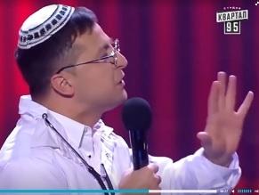 Jewish comedian who plays Ukrainian president on TV runs for the job