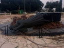 В Рамат-Гане сброшен с постамента памятник жертвам Холокоста