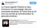 Президент Франции Эммануэль Макрон объявил День памяти жертв геноцида армян во Франции