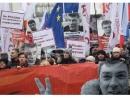 На марш памяти Немцова в Москве вышли более 10 тысяч человек