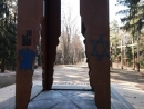 Вандалы разрисовали памятники в Куропатах