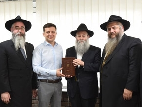 President elect of Ukraine meets with local chief rabbis