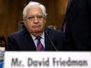 Посол США: Израиль имеет право на часть Иудеи и Самарии