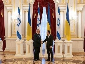 Netanyahu Touches Down In Kyiv, Hails 'Excellent' Ukraine Ties