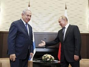 Netanyahu in Sochi: Talking to Putin, digging at Liberman