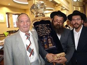150-year old Torah Scroll Survivor Innagurated in Kharkov