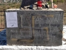 A Holocaust monument in Ukraine was vandalized
