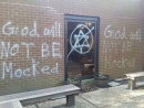 Graffiti targeting Jews painted on Georgia chuch