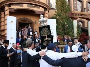 Jews of Krasnodar Celebrate New Torah Scroll