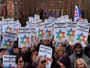 Тысячи британских евреев и их сторонников провели в Лондоне митинг против антисемитизма