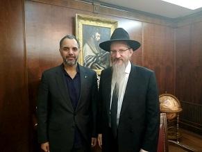Qatar's Ambassador Visits Russian Chief Rabbi
