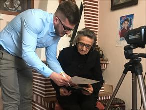 Вильховецкие старожилы рассказали о евреях села для музея Холокоста США