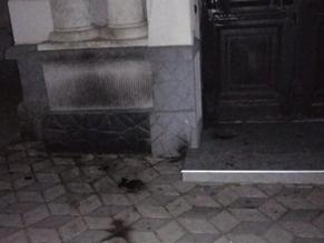 Firebombing damages synagogue in Ukraine