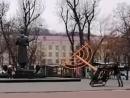 В Киеве антисемит осквернил ханукальный светильник