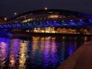 Вильнюсские мосты осветили в цвета израильского флага