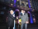 Киевскую мэрию подсветили цветами флага Израиля