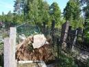 Последствия непогоды на еврейском кладбище Витебска
