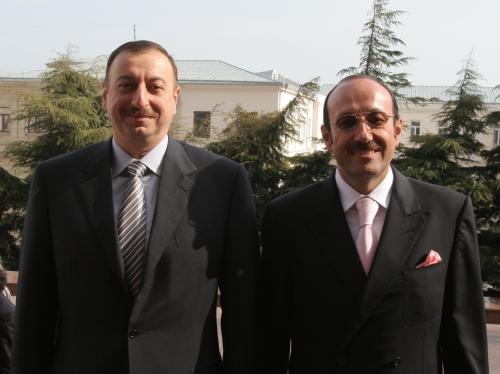 Президент Азербайджана Ильхам Алиев и президент Евроазиатского еврейского конгресса Александр Машкевич