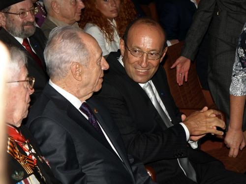 Президент Израиля Шимон Перес и президент ЕАЕК Александр Машкевич